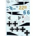 Decals Focke Wulf Fw 190A (4) Focke Wulf Fw 190A-1 Blue 6 10/JG 2 Focke Wulf Fw 190A-2 Yellow 2 9/JG2 Fw.Kurt Nowak 1942 White 6