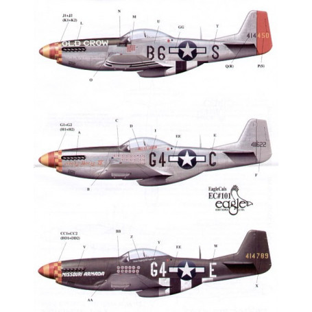 Eagle Cal 48101 - North American P-51D Mustang 357th FG Pt