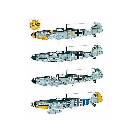 Decals Messerschmitt Bf 109G-6(4) Yellow 6 W.Nr 18807 Alfred Surau9/JG3 Sept 1943 White 1 W.Nr 26024 Hptm Karl-Heinz Langer 7/JG