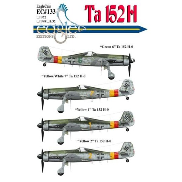 Focke Wulf Ta 152 subjects complete with new stencils for data plate placements and other newly revealed information