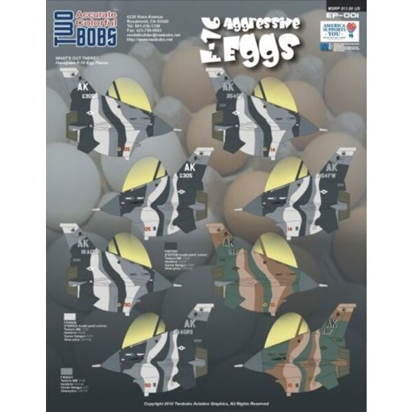 F-16 Aggressive Eggs. Aggressor paint schemes (designed to be used with model kits from Hasegawa Egg)