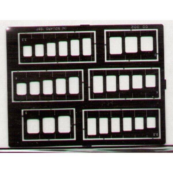 Squares & Oblongs templates. Assorted sizes