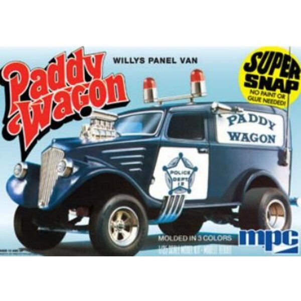 Willys Panel Van Paddy Wagon 1:25