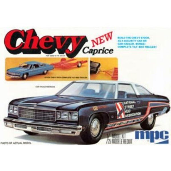 Chevy Caprice with Trailer 76 chevrolet 1976 1:25