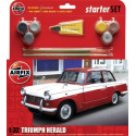 Triumph Herald Starter Set includes Acrylic paints brushes and glue Airfix AX55201