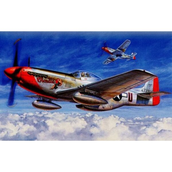 North American P-51D Mustang. Additional markings for Mustang Mk.IVs with RAF roundels including RAF, RAAF and RCAF are on Xtrad