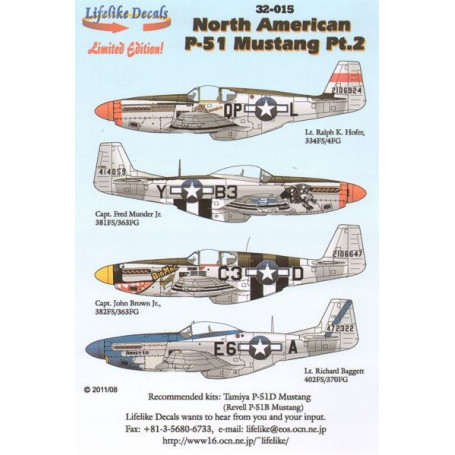 Decals North-American P-51D Mustang Part 2