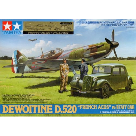 Dewoitine D.520 with Citroen Traction 11CV Staff Car