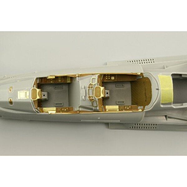 Eurofighter EF-2000 Typhoon single seat interior (self adhesive) (designed to be assembled with model kits from Trumpeter)