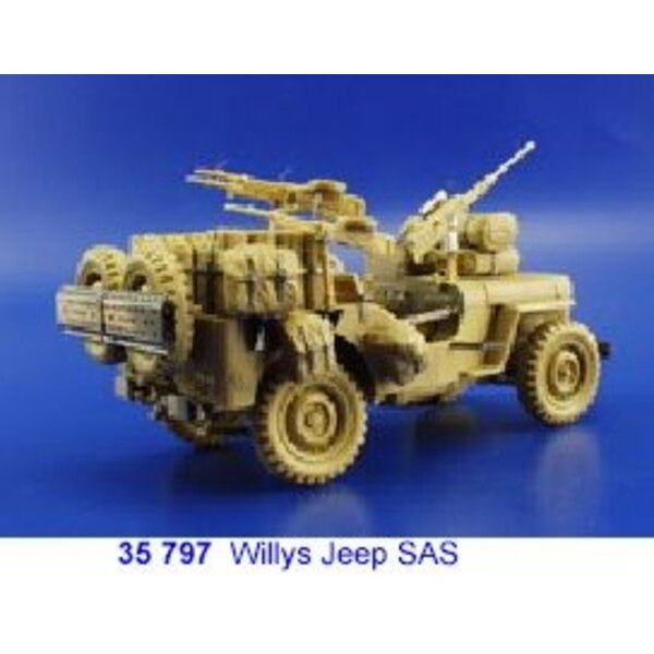 SAS Willys Jeep (designed to be assembled with model kits from Tamiya TA35033)