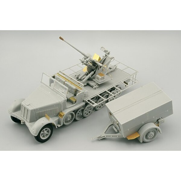 Sd.Kfz.7/2 (early) 37mm Flak 37 (designed to be assembled with model kits from Trumpeter)