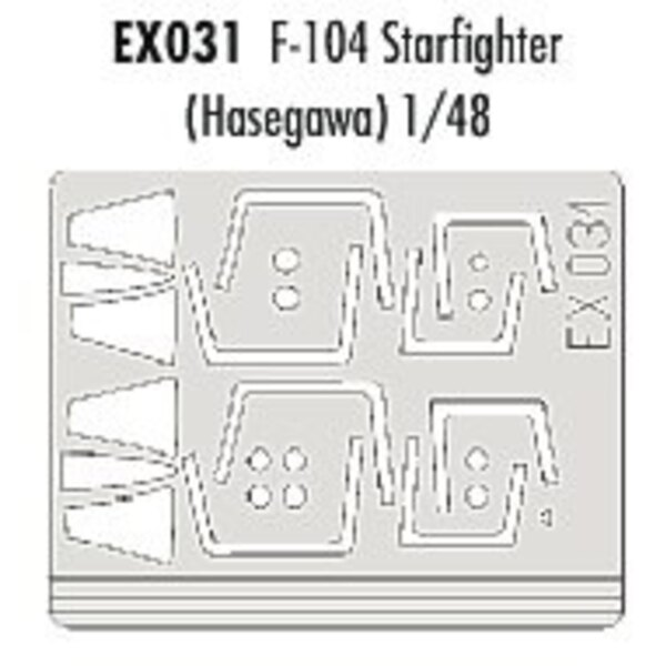 Lockheed F-104 Starfighter canopy (designed to be assembled with model kits from Hasegawa) (made from yellow Kabuki tape produce