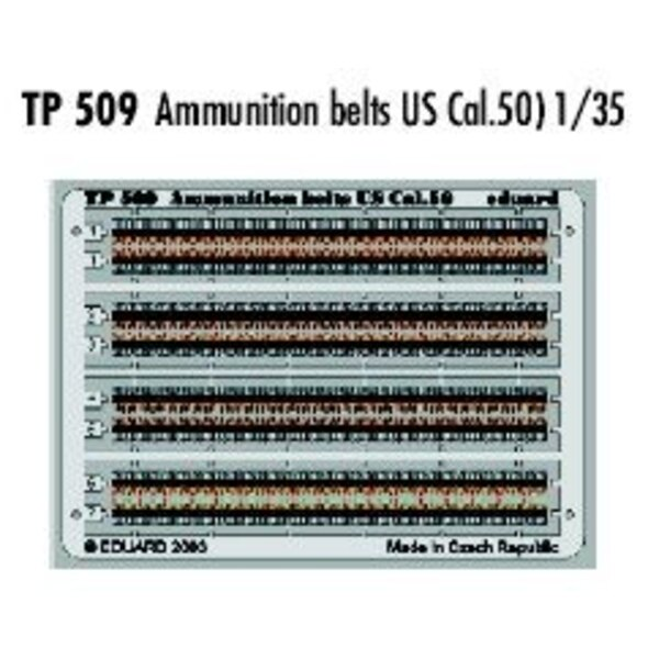 Ammunition belts US Cal.50 PRE-PAINTED IN COLOUR!