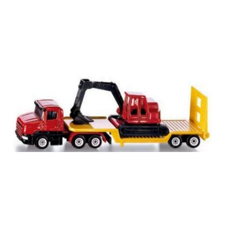 Low loader with Excavator 1:87