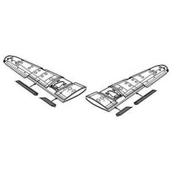 Martin B-26F/G wing flaps set (designed to be assembled with model kits from Hasegawa)