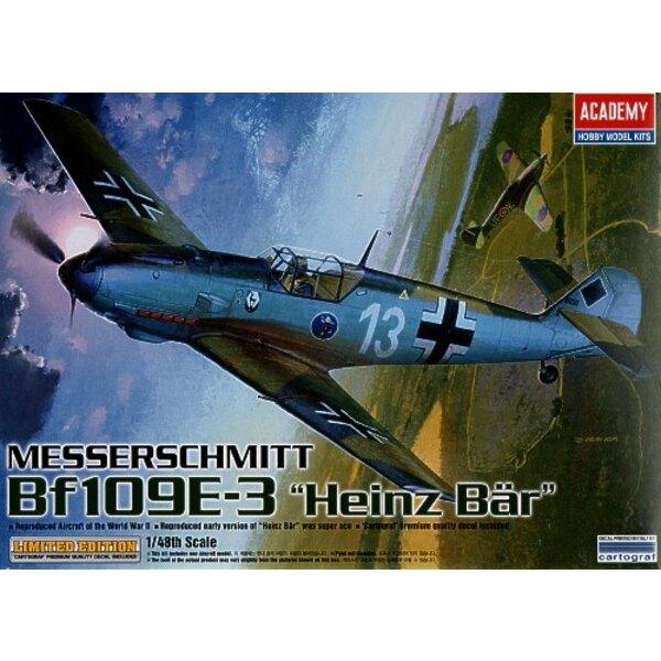 Messerscmitt Bf 109E-3 ace Heinz Bar