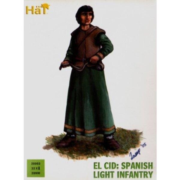 El Cid Spanish Light Infantry x 36 hard plastic figures