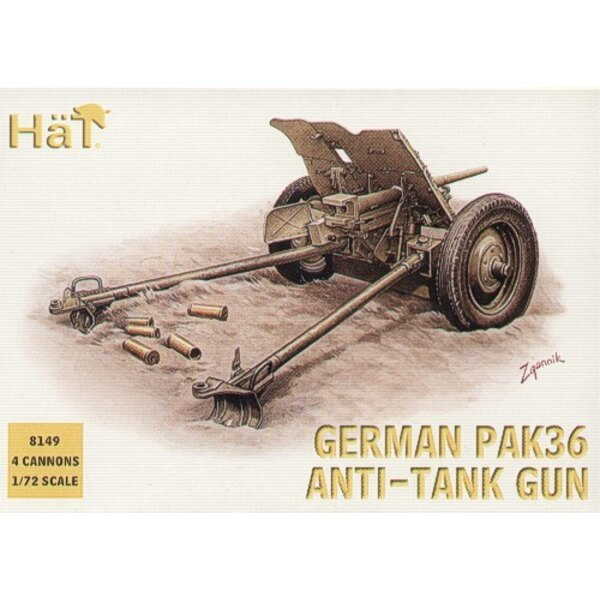 German Pak 36 37mm anti tank gun WWII