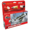Messerschmitt Bf 109E-3 Starter Set includes Acrylic paints, brushes and poly cement Airfix AX55106