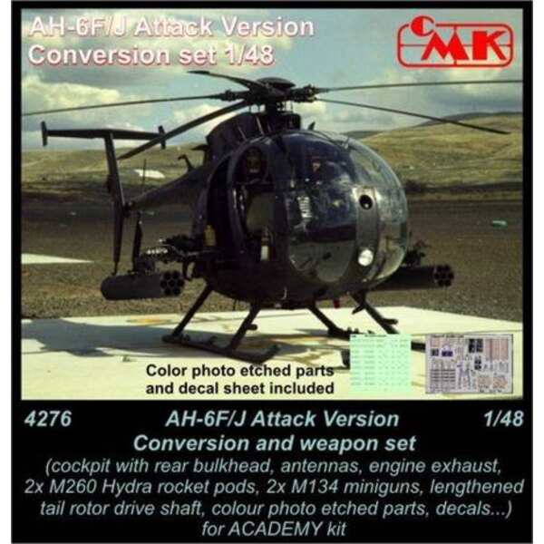 AH-6F/AH-6J Little Bird (Attack) Conversion and weapon set (designed to be used with Academy kits) USA, modern