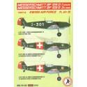 decals messerschmitt bf 109d-1 david part iii (swiss air force)