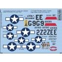 Decals Republic P-47D Thunderbolt G9-E 42-27210 (42-1055) Thunderbolt - 'Look NO Hands' 509th FG 405th FS - P-47 2Z-E 44-32747 '