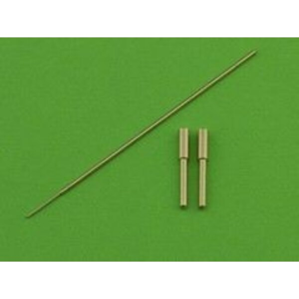Messerschmitt Me 163A Komet - armament set (MG 151 barrel tips) & Pitot Tube (designed to be used with Dragon, Italeri and Trima