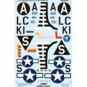 decals north-american p-51d mustangs. decals for 2 mustangs: p-51d-10-na s/n 44-14822 'sad sack', pi
