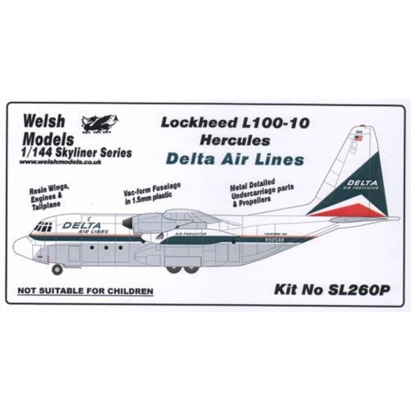 Lockheed L.100 -10 Hercules -vac/resin - Delta Airlines Widget livery. Early Allison engines.