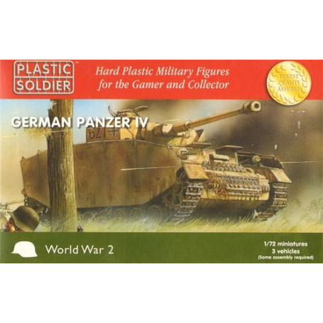 Easy Assembly Panzer IV - 3 vehicles. (options for Pz.Kpfw.IV Ausf.F.1, Pz.Kpfw.IV Ausf.F2, Pz.Kpfw.IV Ausf.G and Pz.Kpfw.IV Aus