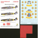 decals messerschmitt bf 109g-2 (3) rumania air force. white 1 and white 5 both 7th fighter gp; white