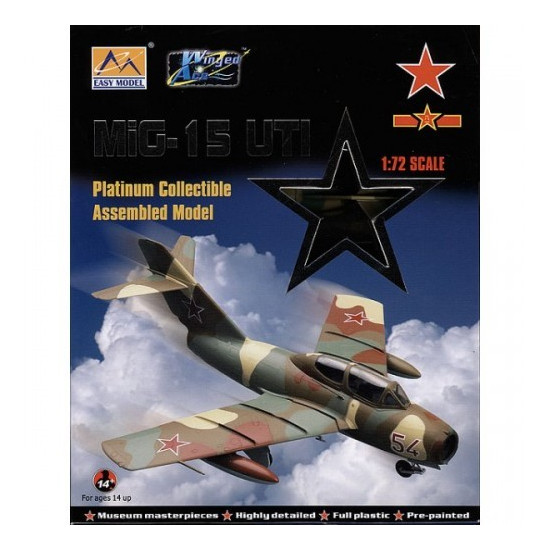 Russian Air Force Neu Easy Model 37135-1//72 Mig-15 Uti