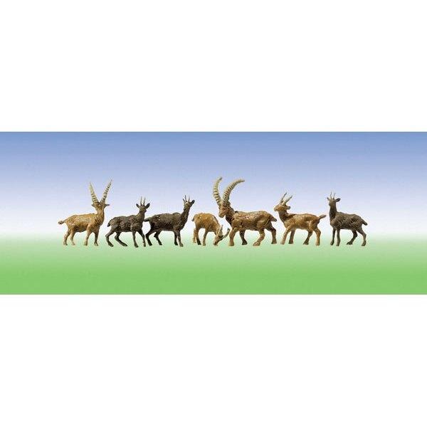 4 Chamois + 6 Ibexes