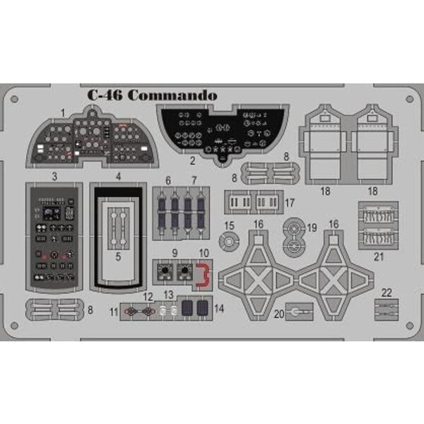 Curtiss C-46 Commando detail set w. color etch. (designed to be used with Williams Bros kits)