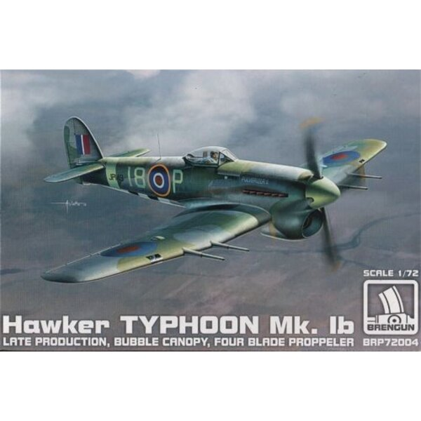 Hawker Typhoon Mk.Ib mid production with four blade propeller