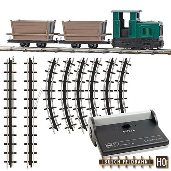 Starter set with two narrow gauge wagons dump