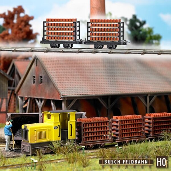 2 wagons for the transport of bricks