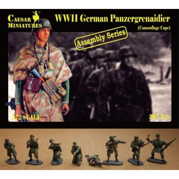 German Panzergrenadier wearing Camouflage Capes (WWII)
