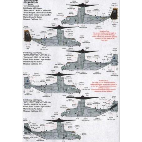 1:144 MV-22B Osprey YW00 USMC VMM-165 White Knights