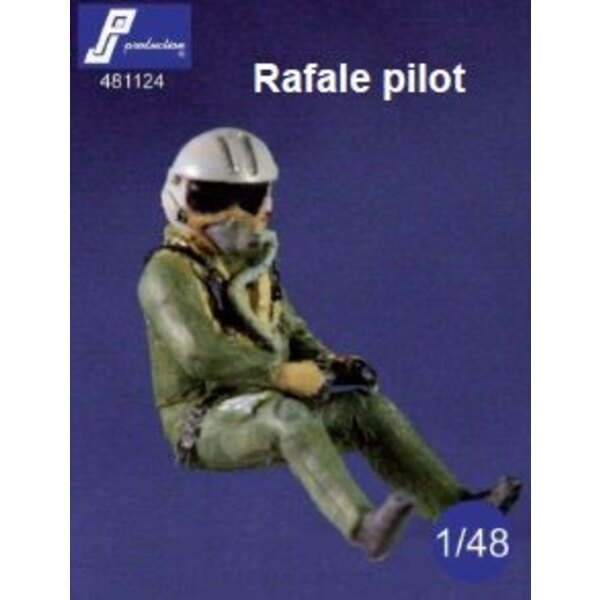 Dassault Rafale pilot seated in aircraft (designed to be used with Heller Hobby Boss and Revell kits)