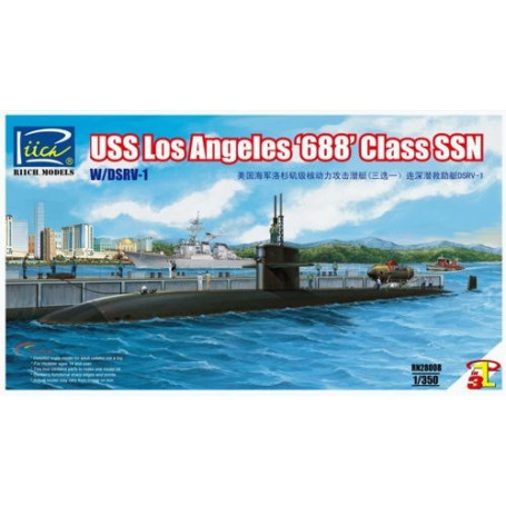 USS Los Angeles 688 Class SSN with DSRV-1
