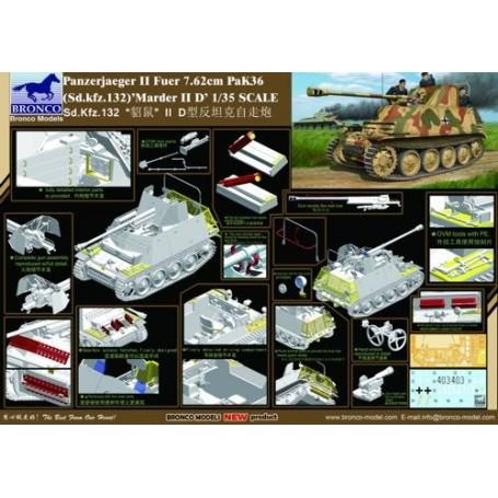 T Tank PANZERJÄGER 38 FÜR 7,62CM MARDER III New /& box 1:43 diecast model