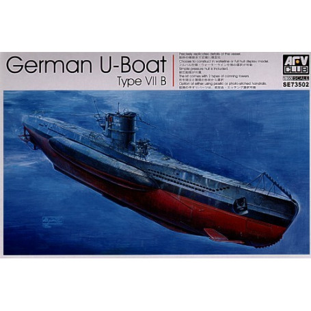 U-Boat Type VIIB with optional etched hand rails and choice of conning towers