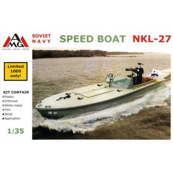 Soviet Navy Speed boat NKL-27 with etched and metal parts (Limited to 1000 kits)