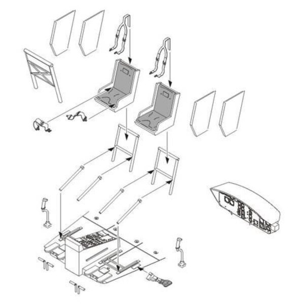 Bell UH-1D interior set (designed to be assembled with model kits from Dragon)