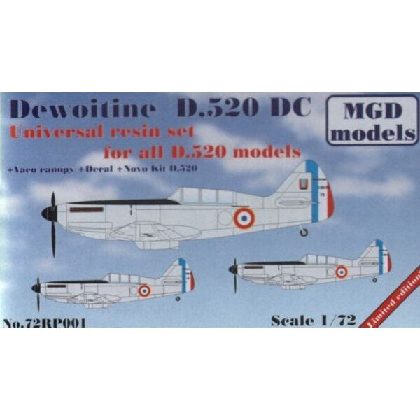 Dewoitine D.520 two-seater, with resin parts (ex-NOVO kit)