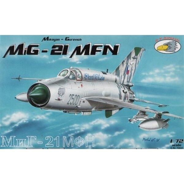 MiG-21MFN (10x Czech camo) 1/72 - A72031 RVAircraft