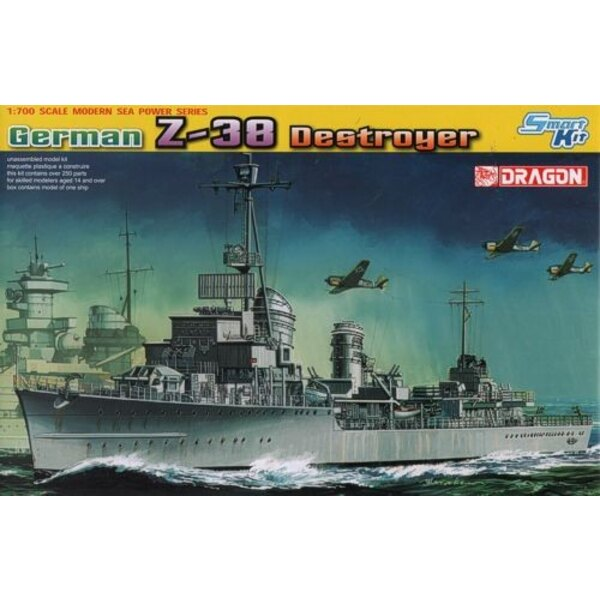 German Z-38 Destroyer 1/700 - Dragon 7134