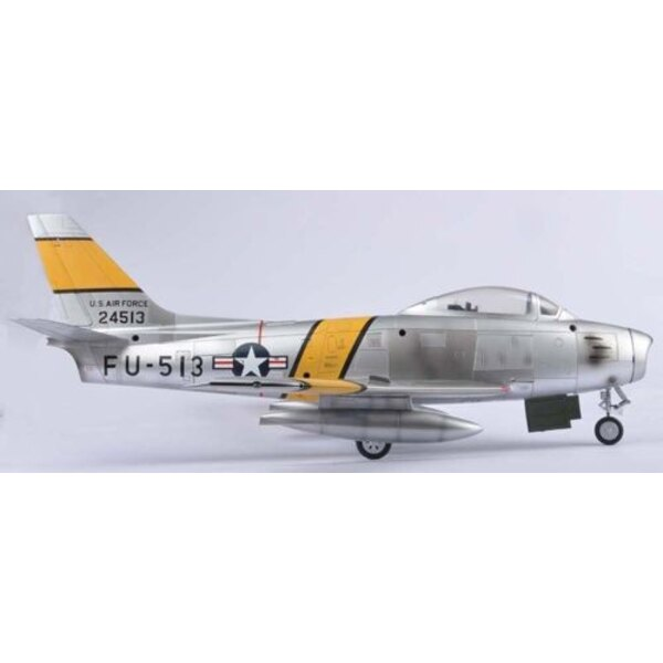 North-American F-86 Sabre Pre-painted and assembled model - LIMITED EDITION - Working Landing Gear - Landing Wheel Well Deta