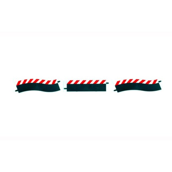 External borders for Pit Stop Lane ( shoulder straight / up / down , two end pcs.)